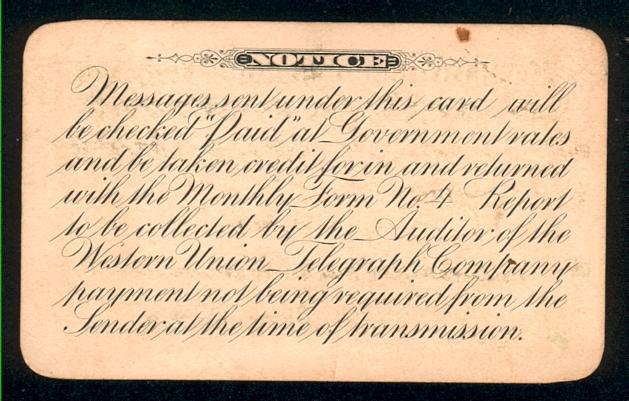 Бумажная кредитная карточка выпущена в 1919 году Western Union Telegraph Company