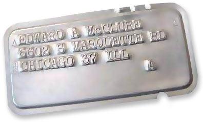 Металлическая кредитная карточка выпущена в 1950 году